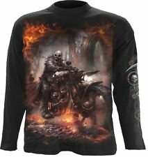 Spiral Direct Longslv Biker Heavy Metal Reaper Flames STEAM PUNK RIDER TR370700