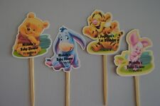 CUPCAKE TOPPERS WINNIE THE POOH, EEYORE, TIGGER, PIGLET BABY SHOWER, BIRTHDAY