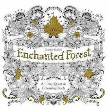 Enchanted Forest: An Inky Quest and Colouring Book by Johanna Basford (Paperback