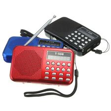 Pocket Portable Mini Speaker FM Radio USB Micro SD MP3 Player LED