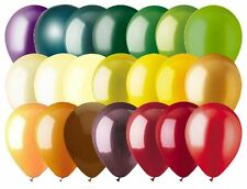 """48- 12"""" Solid Latex Balloons Autumn Inspired Color Palette Wedding Birthday Fall"""