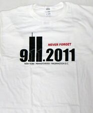 911 September 11 Never Forget Twin Towers t-shirt 10 yr NY PA DC America USA