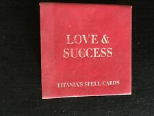 Magical Mystical Love & Success Titania's Spell Cards. Lovely Deck Of Cards