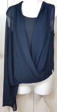 Miss Me Couture Blouse Dark Navy Wrap Blouse Top Size XS, S, M, L - NWT