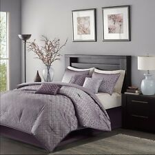 7pc Biloxi Purple Comforter, Bed Skirt, Pillow Shams AND Decorative Pillows