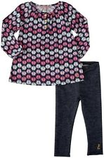 Juicy Couture Toddler Girl's 2-Pc Crown Print Knit Tunic Top & Leggings Set, 3T