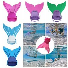 NEW Kids Girls Swimmable Monofin Mermaid tail Mono Fin Flippers Swimming Costume