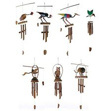 Bamboo Wooden Bali Wind Chimes Pipes Birds Animals Assorted Designs (1 Supplied)