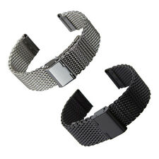 New Stainless Steel Bracelet Strap Watch Mesh Replacement Band 18 20 22 24 mm