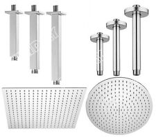 Solid Brass Chrome Finish Ceiling Arm Mounted Square or Round Shower Head Arm