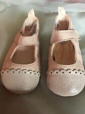 Gorgeous Baby Pink Sparkle Shoes By Next Age 12-18 Months Size 3