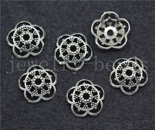 New 20/100/500pcs Tibetan Silver Flower Bead Caps Charms Beads Cap Craft 12mm