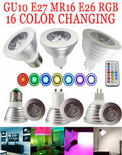 3W/4W GU10 E27 RGB LED Bulb Lamp light Energy-Saving 16 Color changing IR Remote