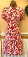 TU Red And White Tea Dress 40's 50's Vintage Style Size 16