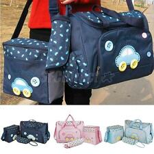 4PCS Baby Nappy Bags Diaper Changing Bag Maternity Mummy Tote Handbag Waterproof