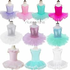 Girls Kids Tutu Ballet Leotard Dance Party Dress Ballerina Fairy Dancing Costume