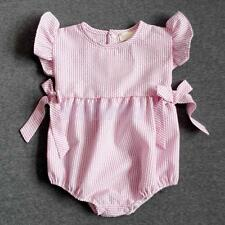 Newborn Baby Clothing Girl Summer Romper Pink Bodysuit Playsuit One-Piece Outfit
