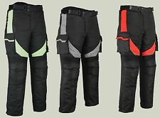 Motorbike Motorcycle Textile Trousers Pants Sports Waterproof CE Armoured Black
