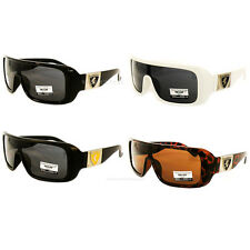 Sports Khan Shield Sunglasses Wrap Around Driving Mens 4 Colors Shades New