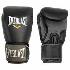 Everlast Muay Thai Boxing Gloves Mitts Black Muay Thai MMA Sparring Training