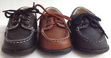 NEW Toddler Baby Little Boys MODIT GTR501 Faux Leather Lace Boat Dress Shoes