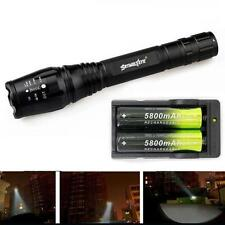 Zoomable 4000 Lumen 5 Modes CREE XML T6 LED Super Torch Lamp Light 18650&Charger