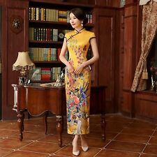 New Arrival Fashion Traditional Chinese Women Long Cheong-sam Dress S M L XL XXL