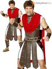 Mens Centurion Costume Adults Roman Gladiator Fancy Dress Spartan Warrior Outfit