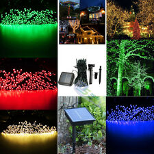 100 LED Solar Powered Fairy Lights String Garden Outdoor Party Wedding Decking