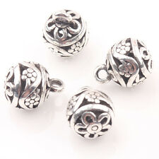 10/20Pcs Tibet Silver Hollow Out Flower Pendants Jewelry Makings Crafts Beauty