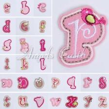 Flower Letter Number Embroidered Applique Iron On Sew Patch Cute Kids Accessory