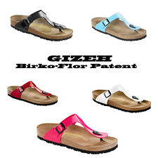 Birkenstock Gizeh Sandals Birko-Flor Patent Leather |regular-narrow|colour-sizes