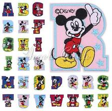 Mickey Mouse Letter A-Z Embroidered Iron On Patch Sew Applique Kids Accessory