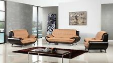 Modern leather sofa loveseat chair set couch furniture