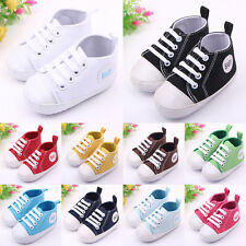 1Pair Lovely Infant Toddler Sneakers Baby Boy Girl Canvas Soft Sole Crib Shoes