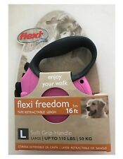 Flexi Durabelt Dog Leash - Large 16 ft - Extra strong - 4 colors - Retractable