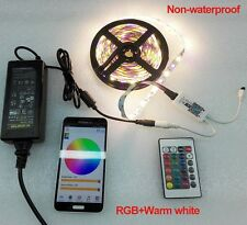 Full Kit 5M RGBW LED Strip Light 5050 SMD + Wifi Controller By Phone APP + Power