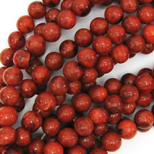 "Red Sponge Coral Round Beads Gemstone 16"" Strand 4mm 6mm 8mm 10mm 12mm"