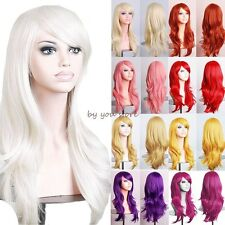 Thick Long Layer Straight Full Head Wig Cosplay Party Daily Fancy Dress Soft D15