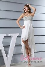 Beaded Top CHIFFON BRIDESMAID DRESS WEDDING GOWN SIZE 6,8,10,12,14,16 WD3-340