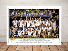 ENGLAND RUGBY SIX NATIONS GRAND SLAM CHAMPIONS 2016 SIGNED PHOTO 12X8