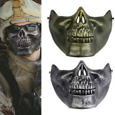 Skull Skeleton Airsoft Game Hunting Biker Half Face Protect Gear Mask Guard QW