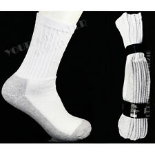 4 Pairs Winter  Crew Socks White Thick Bottom Gray WorkBoot Socks 9-11 & 10-13