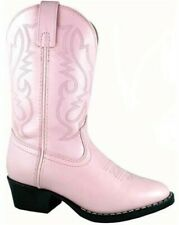 Smoky Mountain Youth Pink Denver Leather Cowboy Boots