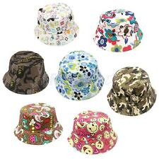 Cotton kids Bucket Hat Fiherman Beach Sunhat Cute Cap Sunmmer Outdoor Sport Caps