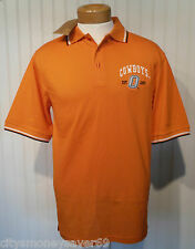 NWT IZOD Oklahoma State Cowboys Mens S/S Polo Shirt S Orange MSRP$60
