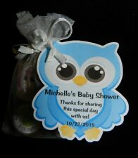 UNIQUE PERSONALIZED OWL BABY SHOWER PARTY FAVOR BIRTHDAY GIFT TAGS SHAPE OF OWL