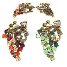 Fashion Ethnic Flower Rhinestone Crystal Corsage Brooch Pins Clips