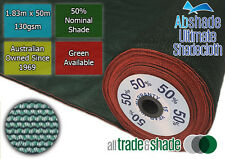 50% Shade Cloth 1.83M x 50M ROLL, Shadecloth/mesh in Green