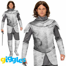 Adult Mens Knight Costume Crusader Tudor Medieval Historical Fancy Dress Outfit